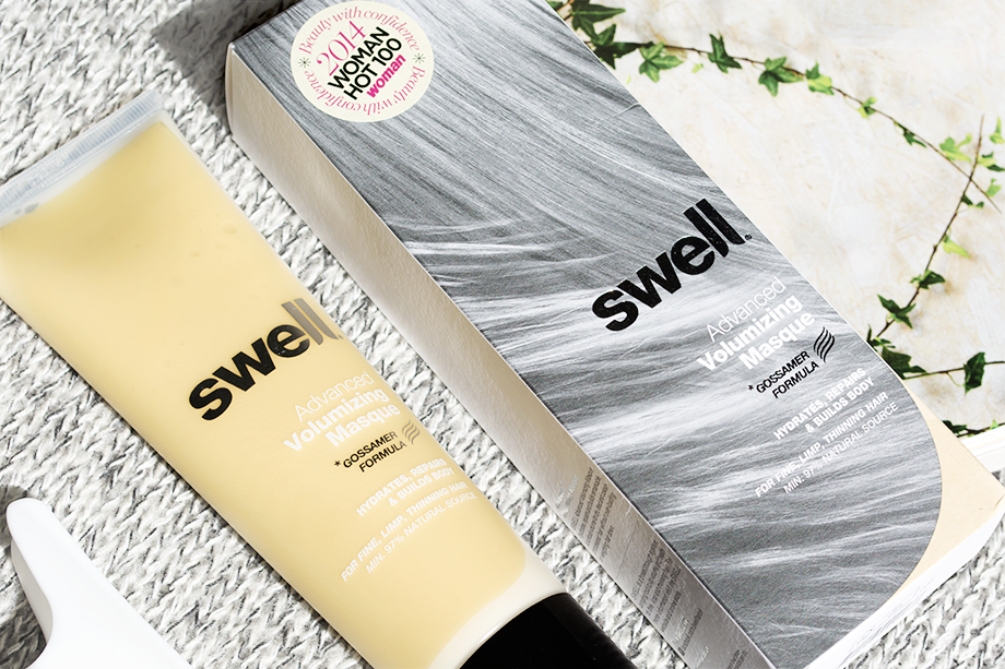 Review of Swell Advanced Volumizing Masque - a weekly hair mask treatment for dry, limp, damaged or colour processed hair to restore elasticity, gloss and volume.