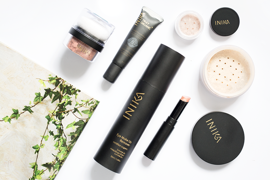 Reviews of organic makeup brand Inika including Mineral Blush Puff Pot in Rosy Glow, Organic Liquid Foundation in Cream, Mineral Foundation Powder in Unity, Mineral Eyeshadow in Honeycomb, Organic Eye Makeup Remover & Organic Lip Tint in Candy