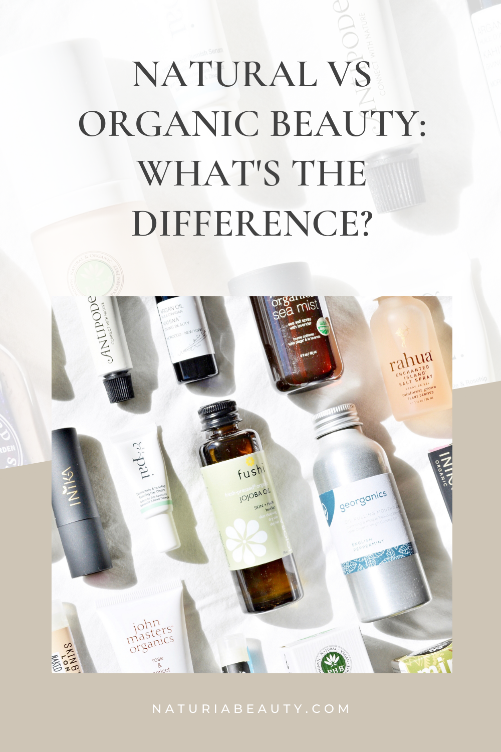Ever wondered what's the difference between natural and organic beauty? Click to read
