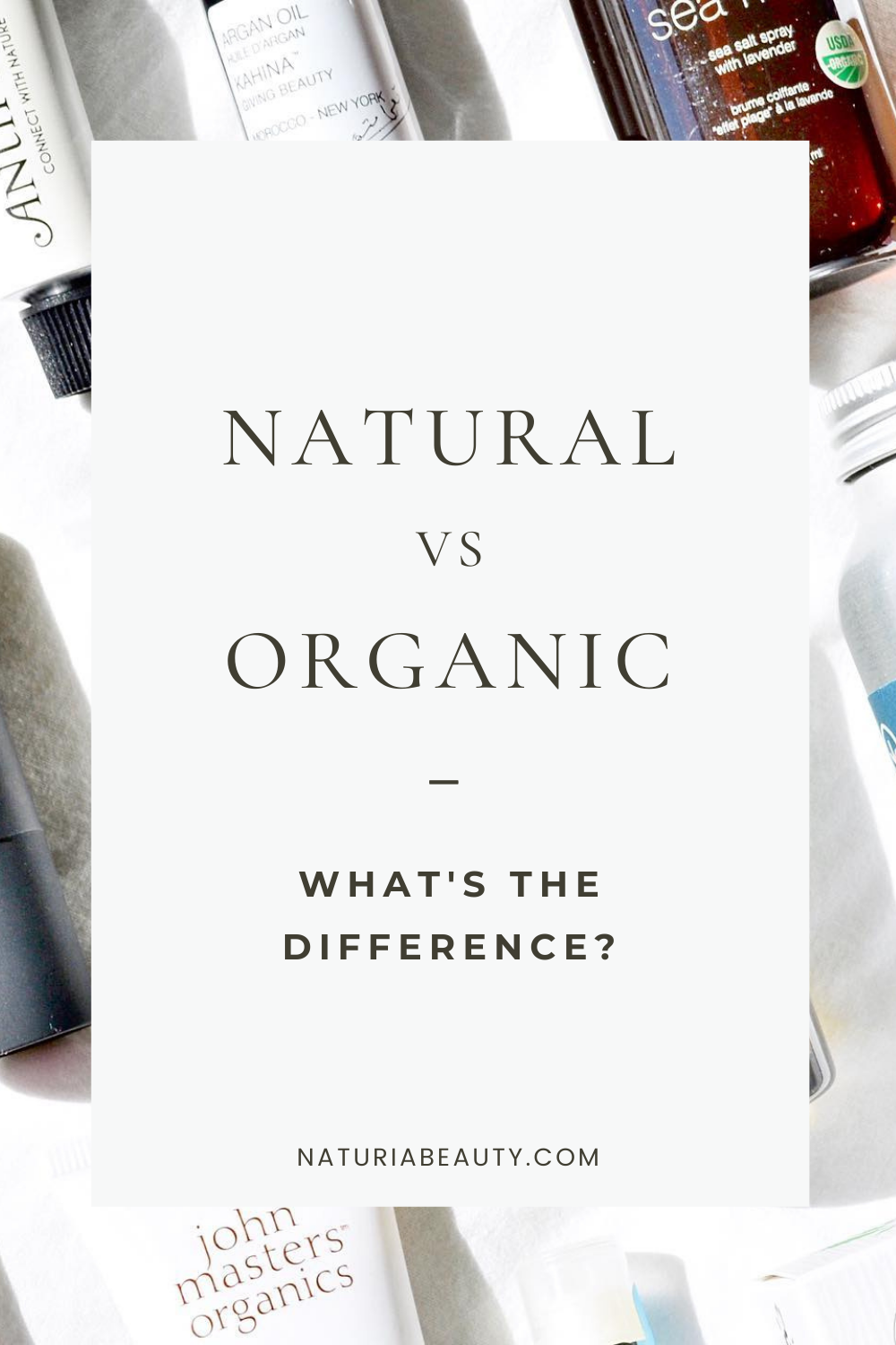 What's the difference between natural and organic beauty?