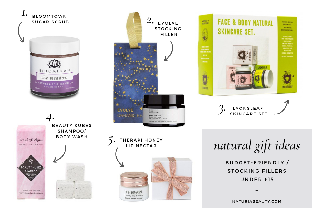 Natural and organic budget-friendly / stocking fillers gift ideas under £15