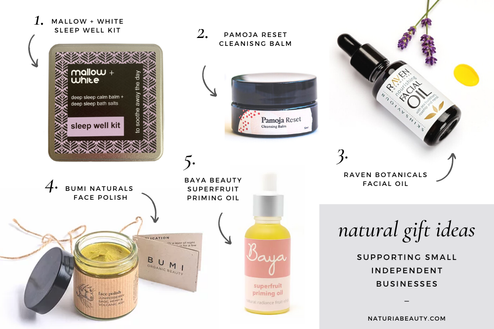 Natural and organic beauty gift ideas from small independent businesses