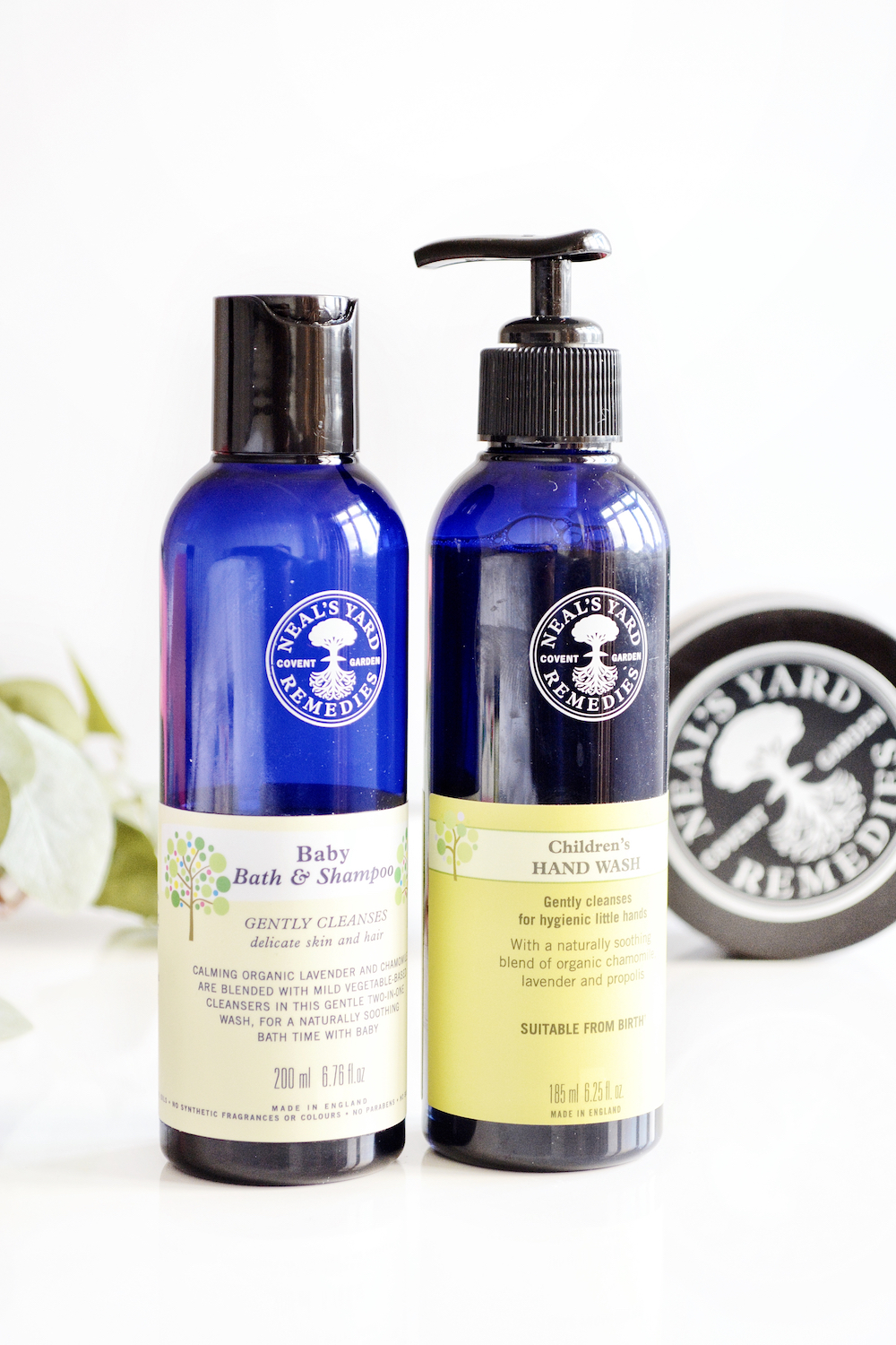 Neal's Yard Remedies Baby Bath & Shampoo and Children's Hand Wash review - gentle and organic products for children with a relaxing lavender scent