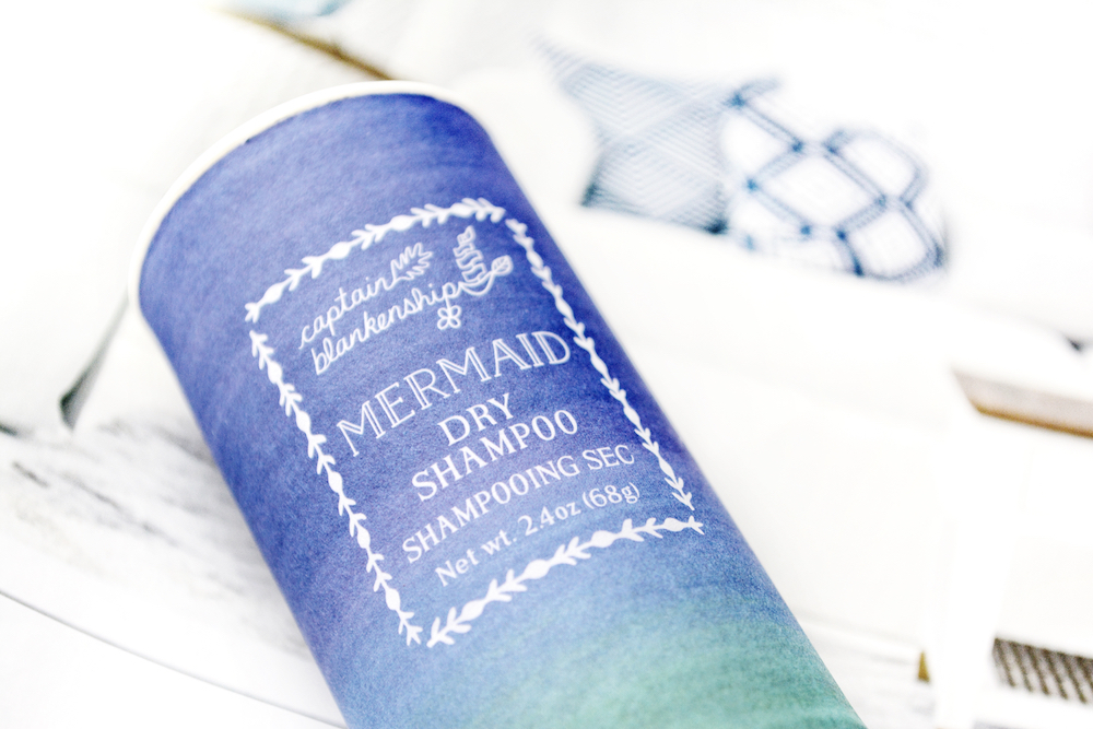 Review of Captain Blankenship Mermaid Dry Shampoo - a cruelty-free, natural, talc-free dry shampoo for greasy hair to extend time between washes.